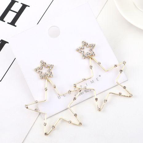 Boucles d'oreilles en argent plaqué or étoiles S925 simples et élégantes en gros NHPS205270's discount tags