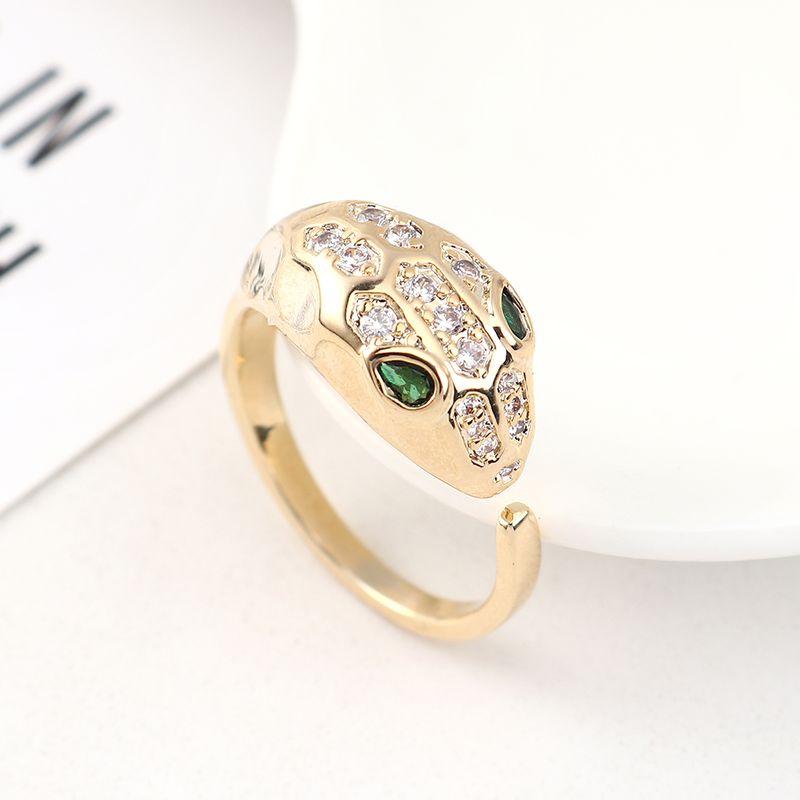 New fashion zircon snake ring wholesale NHPS205277
