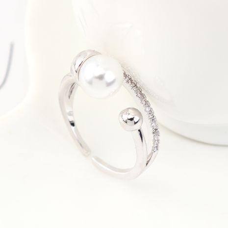 Nueva moda perla circón anillo al por mayor NHPS205279's discount tags