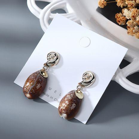 Nouvelle mode simple créative boucles d'oreilles Shell pour les femmes en gros NHPS205301's discount tags