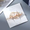 New Fashion Simple Conch Pearl Cheap Hair Clip Wholesale NHPS205306