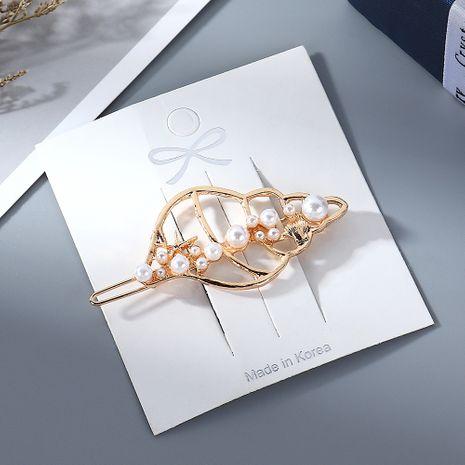 New Fashion Simple Conch Pearl Cheap Hair Clip Wholesale NHPS205306's discount tags