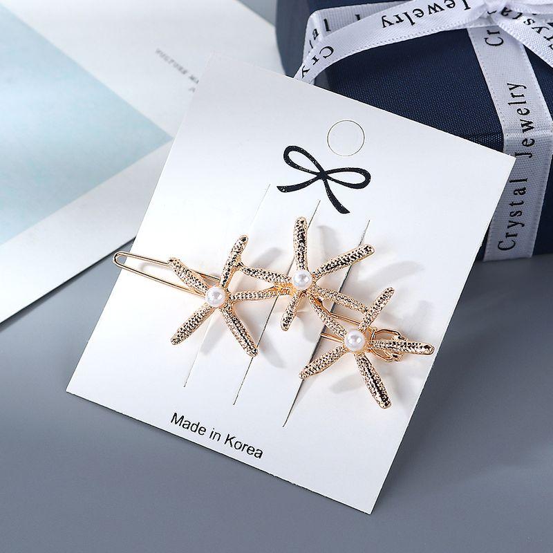 Korean Simple Trendy Starfish Pearl Cheap Hair Clip Wholesale NHPS205307