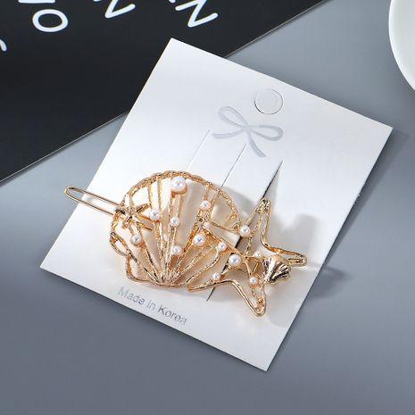 Korean Fashion Retro Five Star Pearl Cheap Hair Clip Wholesale NHPS205308's discount tags