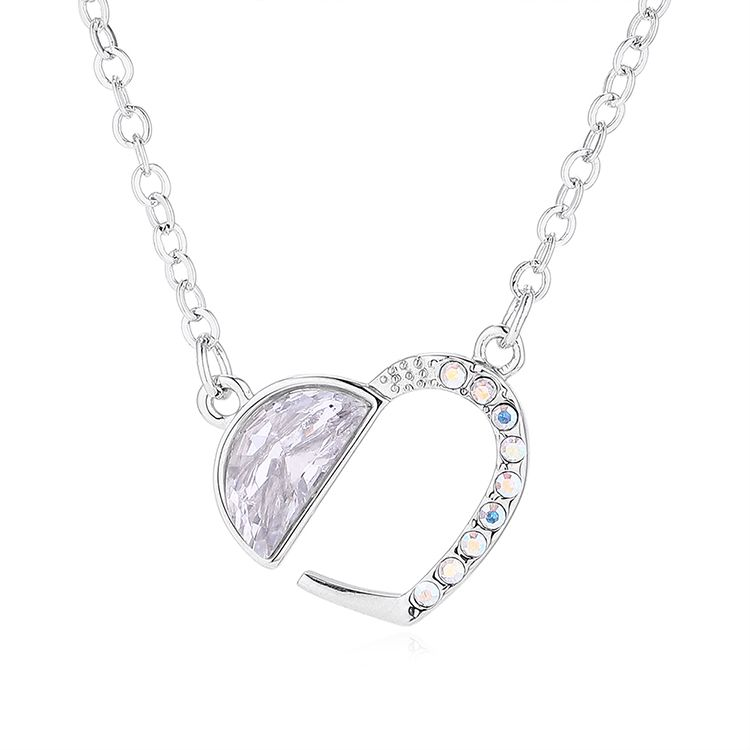 New Fashion Love Crystal Necklace Wholesale NHSE205321