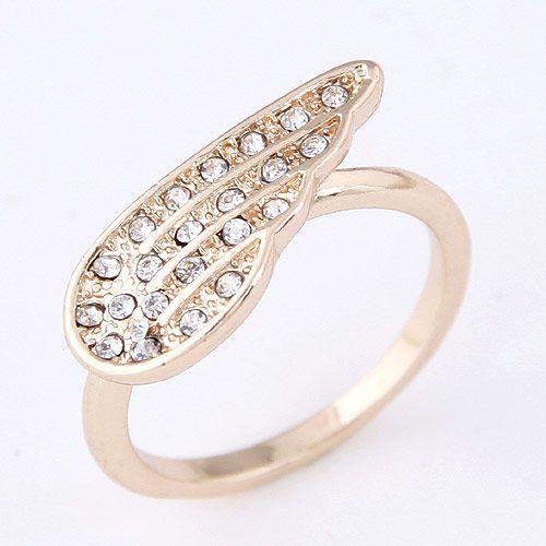 Korean fashion sweet flash diamond angel wings wings ring wholesale NHSC205714