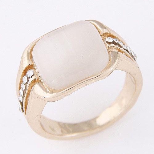 Moda coreana dulce anillo de ópalo al por mayor NHSC205713