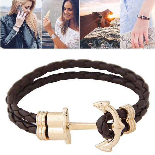 New fashion wild metal anchor bracelet wholesale NHSC205711