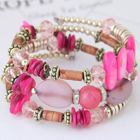 Coquille de style bohème turquoise mix and match bracelets multicouches en gros NHSC205699's discount tags