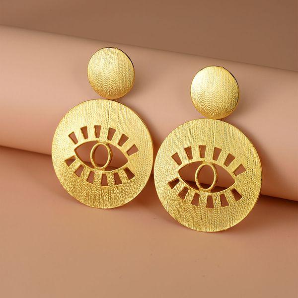 Yi wu jewelry new gold-plated devil's eye earrings wholesale NHOT205695
