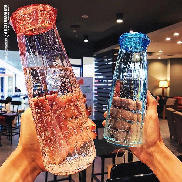 Summer student water cup plastic portable leak-proof cute Korean water bottle NHtn205375