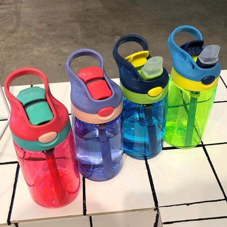 Children's drinking cup baby sippy cup leak-proof cup drinking water portable sports bottle duckbill cup plastic cup NHtn205378's discount tags