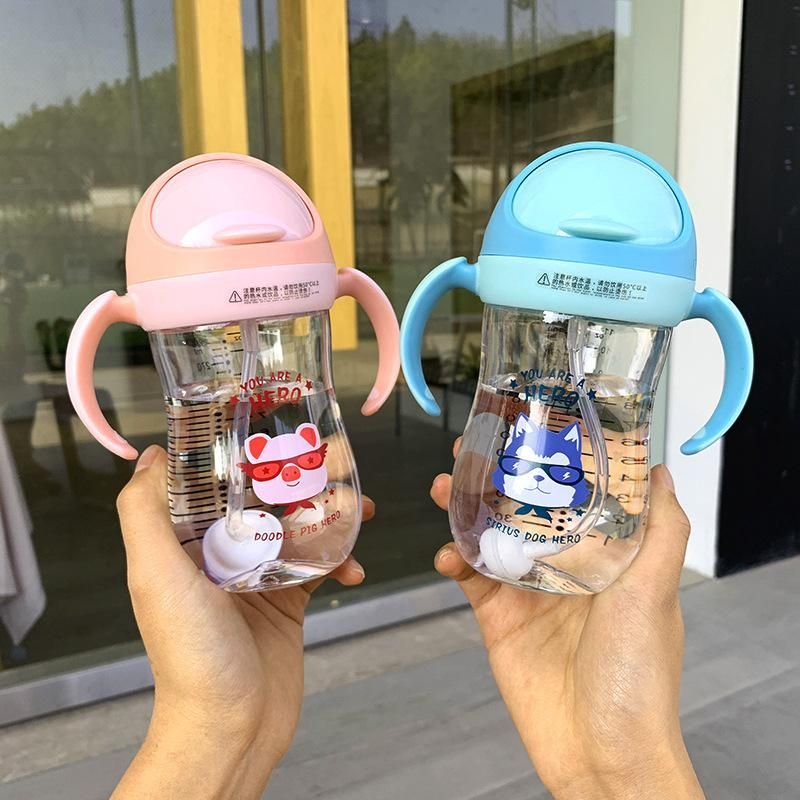 Straw cup anti-cricket child drinking cup cartoon printing simple fashion drinking cup student cup NHtn205380