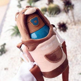 Creativa taza con aislamiento de acero inoxidable 316 hervidor de agua para niños con taza de agua para bebés de paja NHtn205387's discount tags