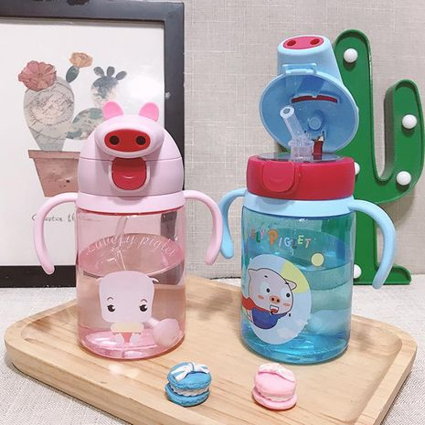 Baby drinking water cup handle hand strap dual purpose baby sippy cup learn to drink anti-cricket child water cup NHtn205389's discount tags