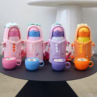 Taza de aislamiento de acero inoxidable 316 lindos niños niños y niñas adultos con copa de paja para beber jardín de infantes taza de agua para bebés NHtn205391's discount tags