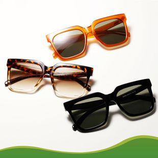 Gafas de sol nuevas con montura cuadrada grande Gafas de sol retro con montura de leopardo NHXU205400's discount tags