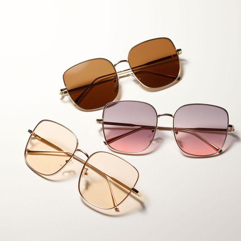 New fashion metal square thin frame retro fashion sunglasses wholesale NHXU205404