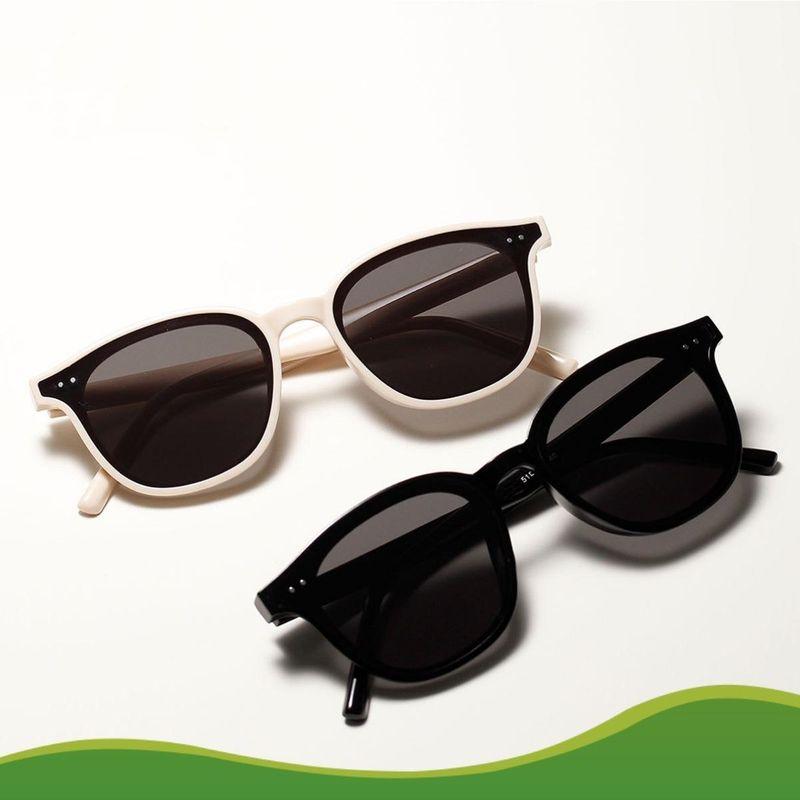 Rivet Small Frame Sunglasses Beige Frame Exquisite Retro Sunglasses Wholesale NHXU205405
