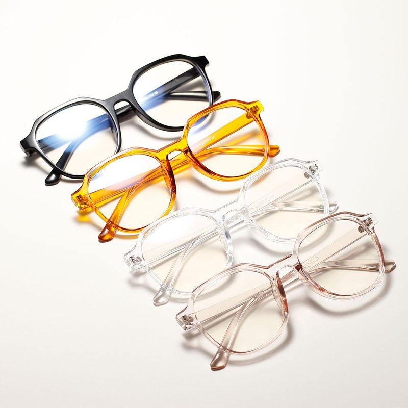 Candy-colored orange square large frame flat mirror new fashion retro decorative glasses NHXU205407