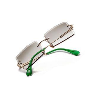 Nuevas gafas de sol cuadradas sin marco vintage transparentes NHXU205409's discount tags