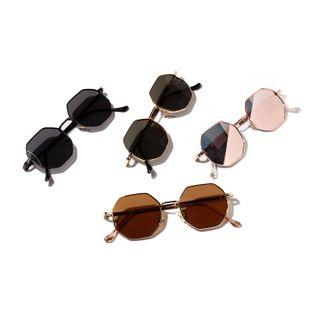 Gafas de sol poligonales de montura pequeña de metal retro redondo nuevo de moda NHXU205410's discount tags