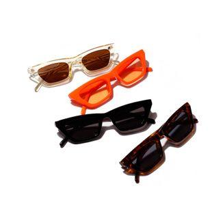 Gafas de sol cuadradas coloridas de la nueva manera Gafas de sol anaranjadas de la jalea Gafas de sol retro del leopardo NHXU205414's discount tags