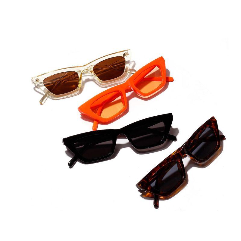 New Fashion Colorful Square Sunglasses Orange Jelly Sunglasses Retro Leopard Sunglasses NHXU205414