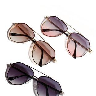 Gafas de sol de color Gafas de metal retro Gafas de sol con montura grande coreana NHXU205431's discount tags