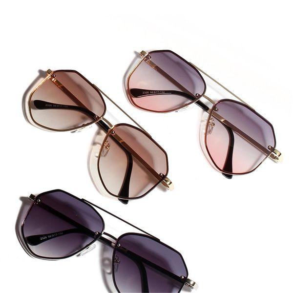 Gafas de sol de color Gafas de metal retro Gafas de sol con montura grande coreana NHXU205431