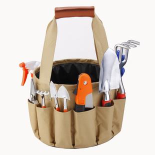 Kit de jardinería de jardín portátil conjunto de bolsa de lona conjunto de pala de aluminio tijeras de jardín cubo bolsa de tela NHAT205486's discount tags