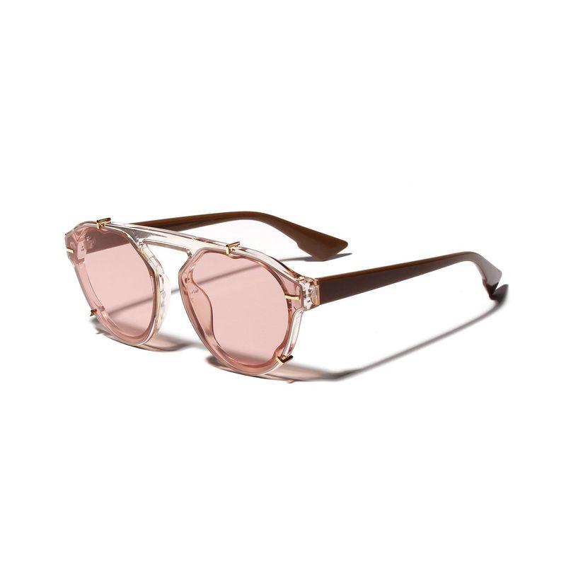 New fashion retro Korean round frame sunglasses wholesale NHXU205429