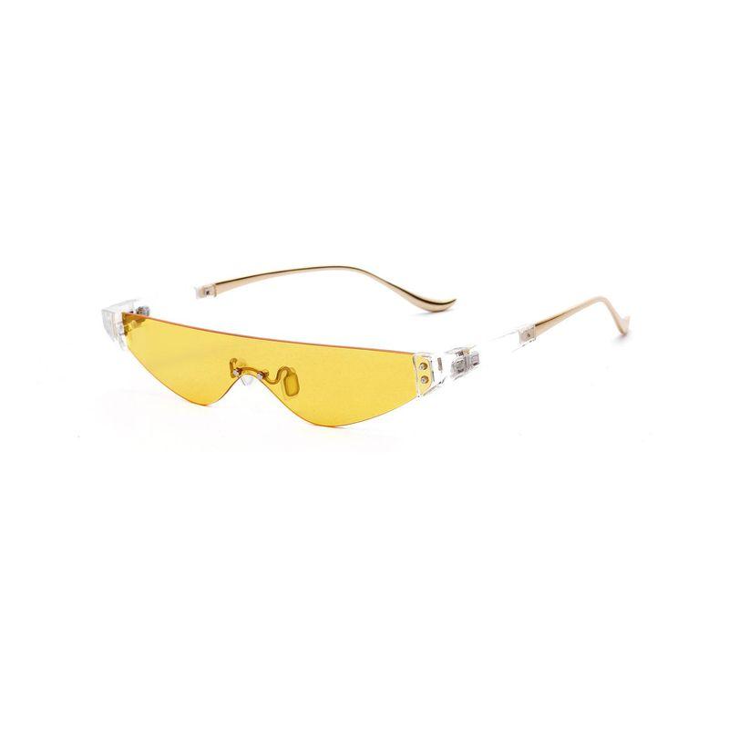 Half Metal Triangle Glasses Transparent Colored Retro Sunglasses Wholesale NHXU205428