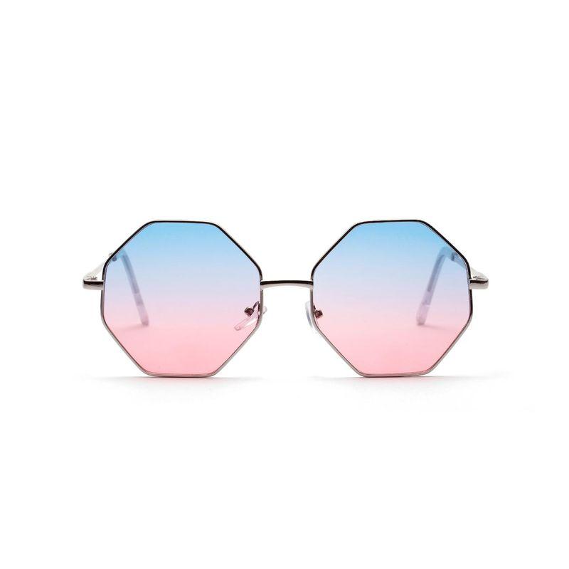 Square sunglasses diamond polygon color transparent lens sunglasses wholesale NHXU205425