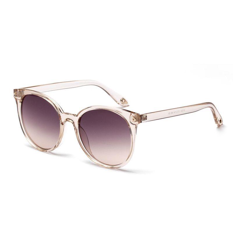 New Fashion Round Retro Sunglasses Transparent Frame Glasses NHXU205413