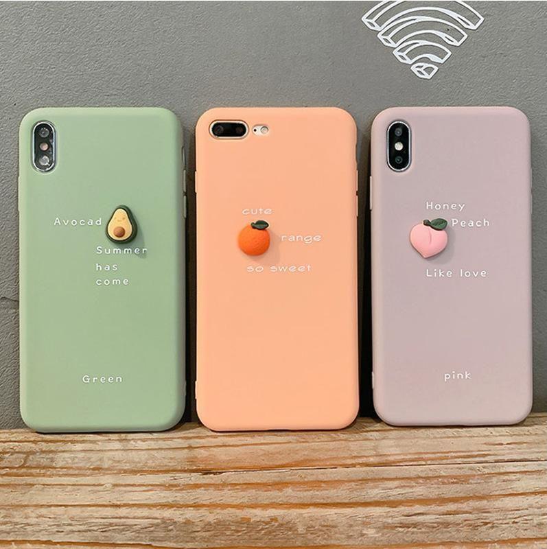 Avocado orange peach suitable for iphone 11 apple mobile phone case Huawei / oppo / vivo cartoon soft shell NHKI205466