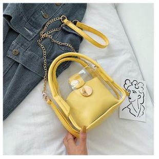 Small bag new Korean chain messenger bag jelly bucket bag NHTC205490's discount tags
