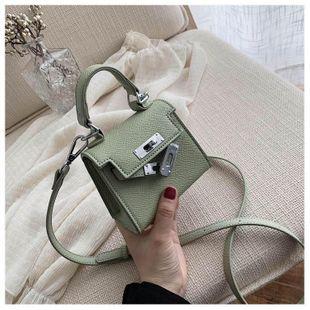 Mini Kelly Bag Women's New Cute Mini White Shoulder Messenger Bag NHTC205493's discount tags