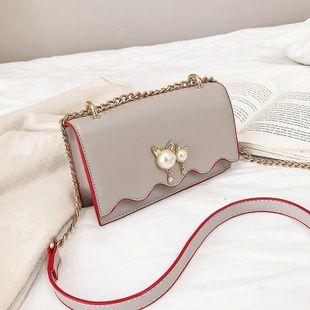Bolso cuadrado pequeño con cadena de moda para mujer NHTC205500's discount tags