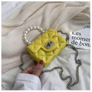 Bolso de cadena de diamante gelatina bolso pequeño compacto nuevo bolso de mensajero coreano bolso de moda NHTC205502's discount tags