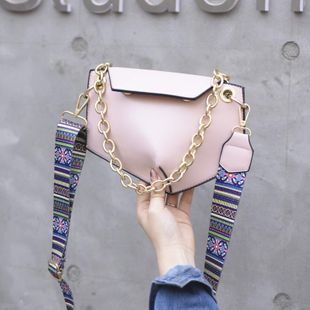 Fashion trapezoidal geometric envelope chain oblique cross hand chest bag mobile phone bag NHTC205505's discount tags