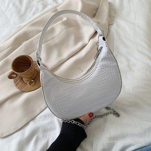 Women's Bag New Fashion Crocodile Crossbody Bag Underarm Crescent Bag NHTC205514's discount tags
