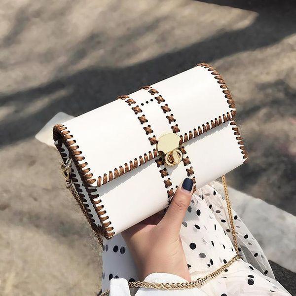 Women's Bag New Korean Messenger Bag Fashion Chain Shoulder Small Square Bag NHTC205517