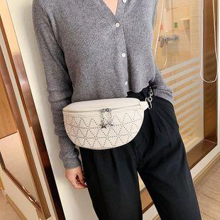 Small bags women's new Korean rivet cross-body bag fashion shoulder chest bag NHTC205529's discount tags