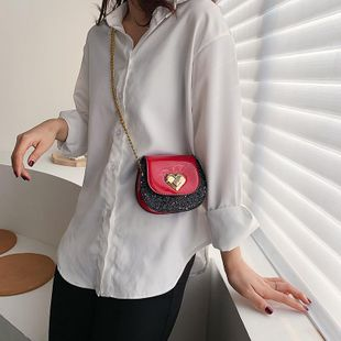 Bolsos Bolsos de mujer Nueva cadena de moda Mini bolso de mensajero Bolso de hombro coreano Bolsa de silla de montar NHTC205534's discount tags