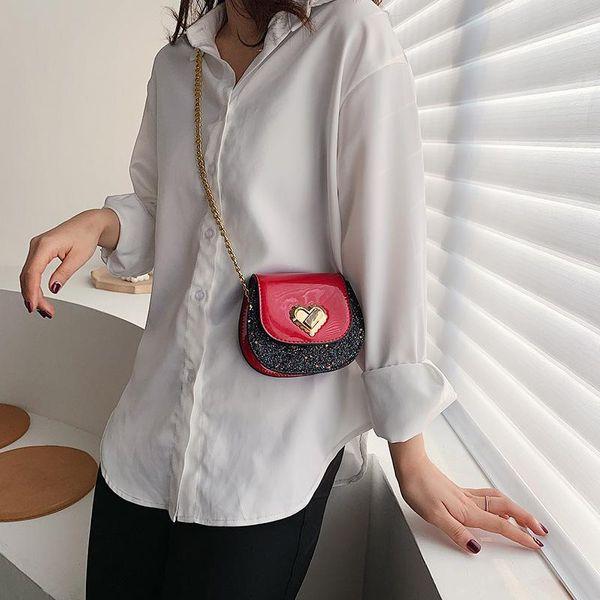 Bags Women's Bags New Fashion Chain Mini Messenger Bag Korean Shoulder Bag Saddle Bag NHTC205534