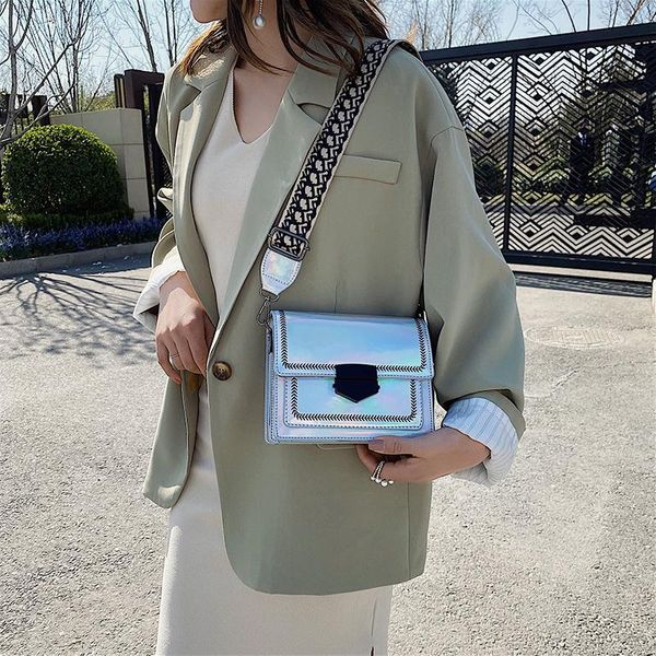 Small bags women's new Korean fashion shoulder Messenger bag casual broadband small square bag NHTC205537