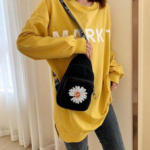 Nuevo bolso de lona pequeño coreano para mujer lindo bolso de mensajero para teléfono móvil NHTC205538's discount tags