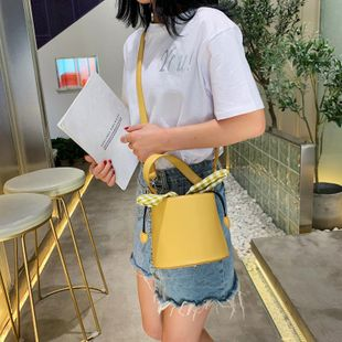 Small bags women's new Korean casual bucket bag fashion simple shoulder messenger bag NHTC205541's discount tags