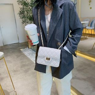 Lingge chain bag new Korean messenger small square bag autumn and winter shoulder bag NHTC205543's discount tags